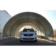 Carport 4x4,5m, corrugated steel sheet