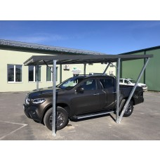Single Carport 2.50x5.00m, corrugated steel sheet