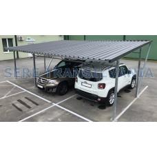 Carport -Modulares Autodach 11.00x5.00m, Wellblech Blechplatten