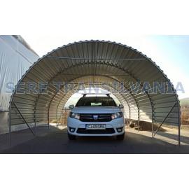 Hobbit Carport 4x6m, Wellblech Blechplatten